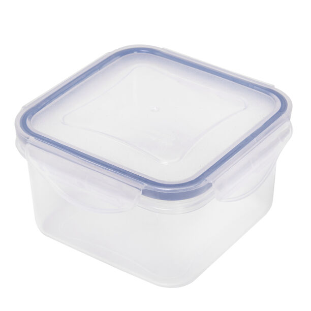 Alberto Plastic Food Saver Square Shape V:0.4L Blue Lid image number 0