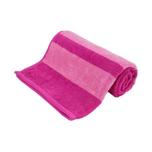 Hand Towel 50X100Cm Egyption Strips Cotton Fuschia image number 0