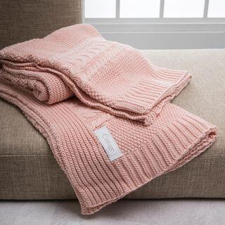 Cottage Cotton Knit Throw-Mora Powder