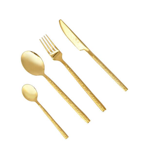 Manuscript 16 Pcs Cutlery Set Gold Color image number 0