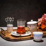 28Pc Arabic Tea And Coffee set Porcelain Royal Blue image number 0
