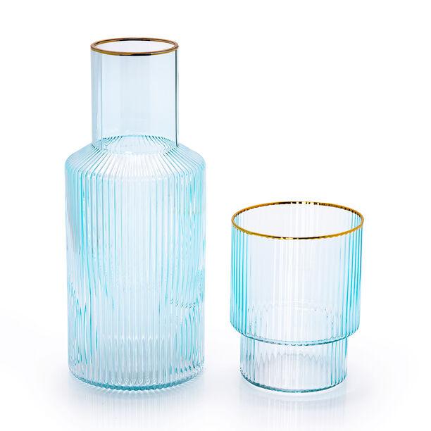 إناء شرب المياه مع كوب من الزجاج image number 1