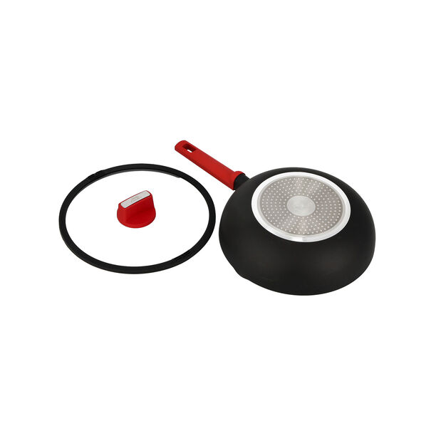 Deep Fry Pan with Glass Lid & Soft Touch Handle image number 2