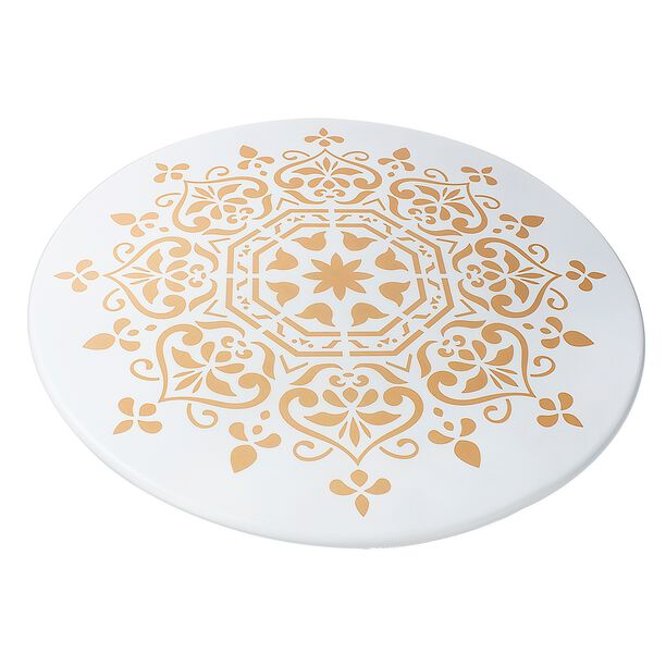 Side Table Metal White/Gold L:60Xw:60Xh:54Cm image number 1