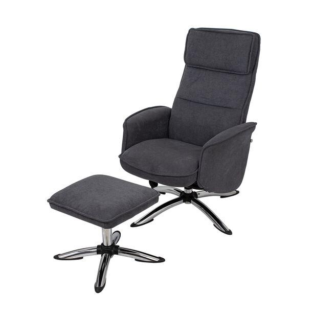 كرسي مكتبي مع مسند إضافي لون رمادي غامق image number 0