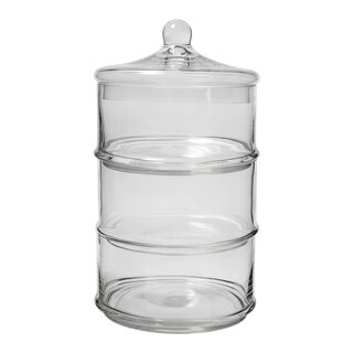 3 Layer Glass Candy Jar