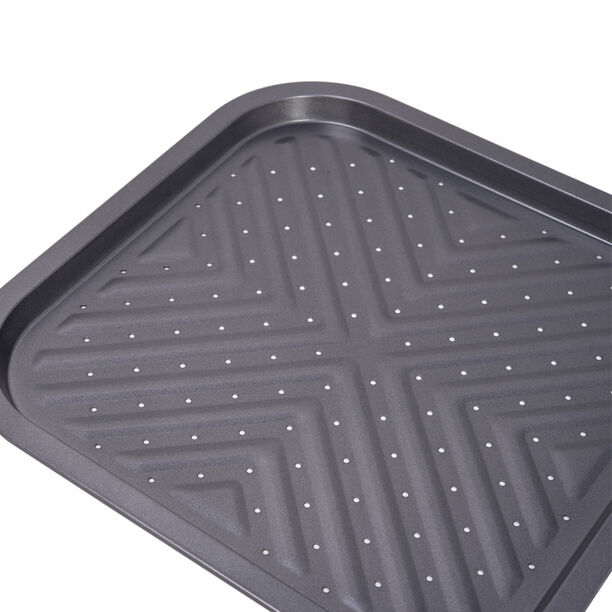 Betty Crocker Non Stick Square French Fries Tray, Grey Color  image number 1