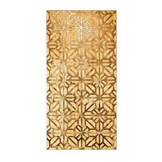 Wall Decor Wood And Metal Gold