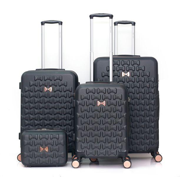 Travel Vision Set Of 4 Butterfly+Vanity Bag Black  image number 0