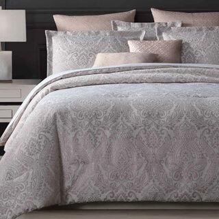 Cottage 5 Pieces Jacquard Comforter King Size Beige