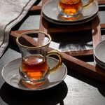 La Mesa Arabic Tea Set 12 Pieces Honey Marble And Gold image number 3