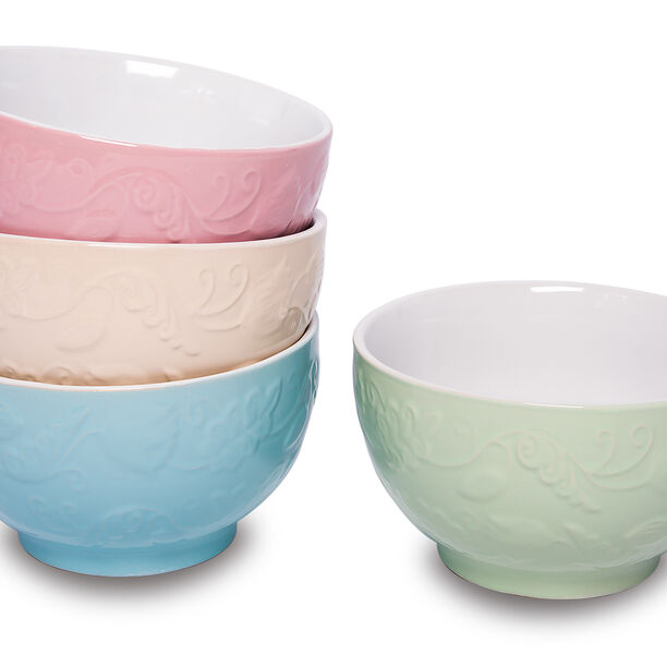 Soup Bowl Set 4Pcs Mix Colors image number 1