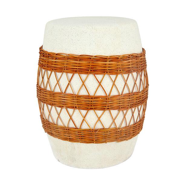 Ceramic Stool With Ratan Design image number 0