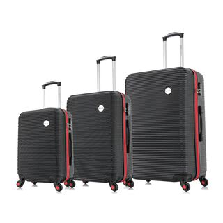 "Travel Vision Moony Set Of 3 20/24/28"" Black"