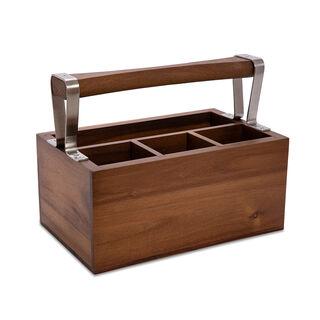 Acacia Wood Utensils Holder Box