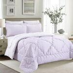 Cottage Comforter Set King Size 5 Pieces Camlica Purple  image number 1