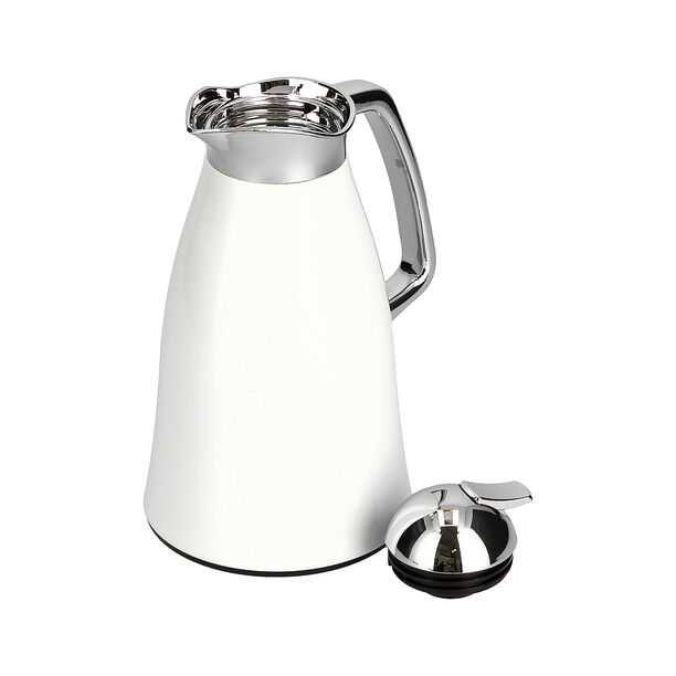 Vacuum Flask Chrome And White 1L image number 2