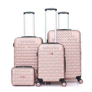 Travel Vision Set Of 4 Butterfly+Vanity Bag Rose Gold