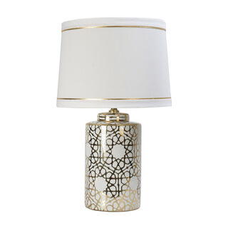 Table Lamp Gold Pattern