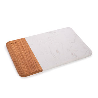 Alberto Rectangular Marble Cutting And Serving Board With Wooden Hand
