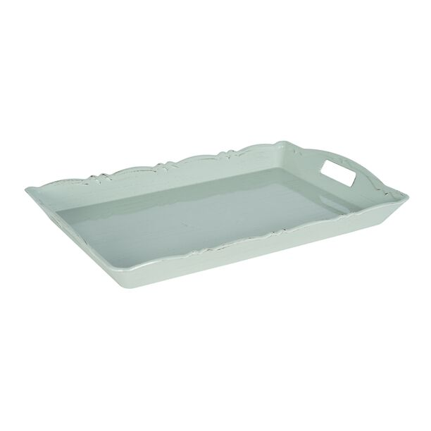Serving Tray Antique Finish 52*34Cm Green Color image number 0