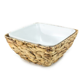 La Mesa Oven/Serving Bowl With Rattan Basket