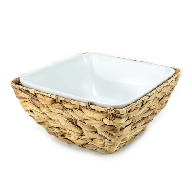 La Mesa Oven/Serving Bowl With Rattan Basket image number 0