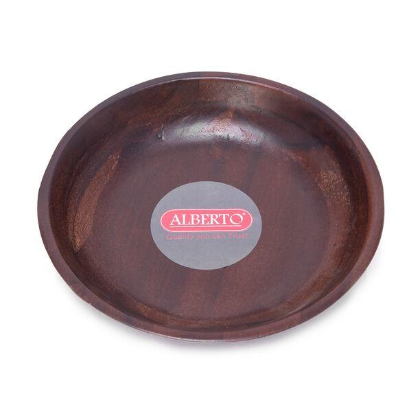 طبق تقديم خشبي دائري الشكل من البرتو  image number 1