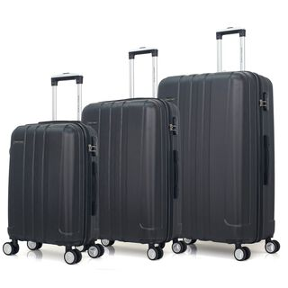 "Travel Chizgi Burqi Set Of 3 20/26/30"" Black"