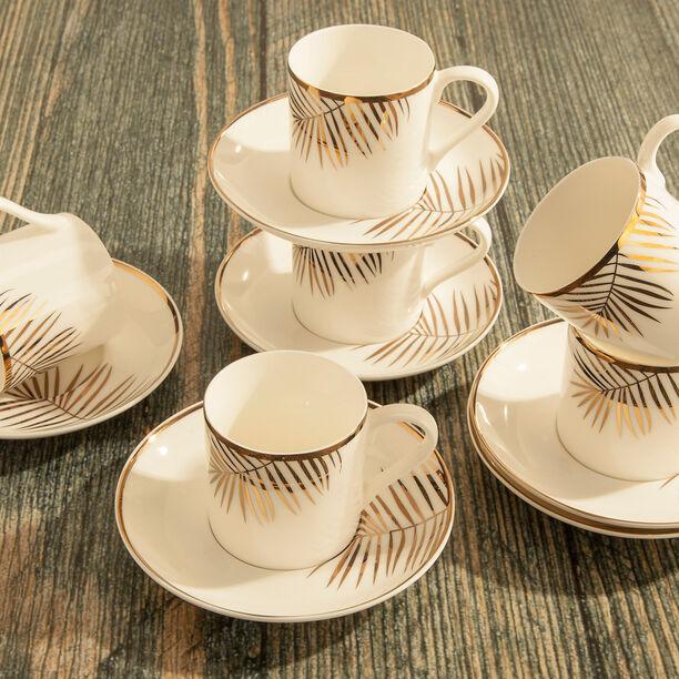 La Mesa Gold Leaf Coffee Cup Set 12 Pieces  image number 3