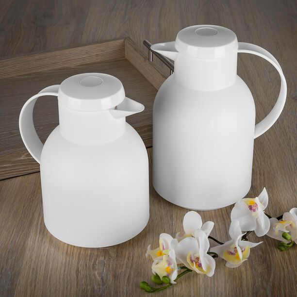 Dallety Plastic Vacuum Flask 2 Pieces Set White  image number 3