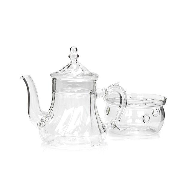 ابريق شاي زجاج مقاوم للحرارة 750مل image number 2