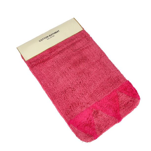Bath Mat 50X80Cm Cotton Pink  image number 2