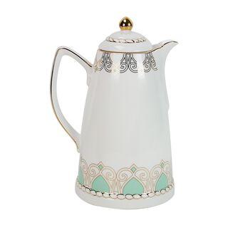 Dallety Porcelain Vacuum Flask 900 Ml Fairoz Green Color