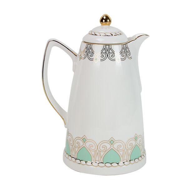 Dallety Porcelain Vacuum Flask 900 Ml Fairoz Green Color image number 0