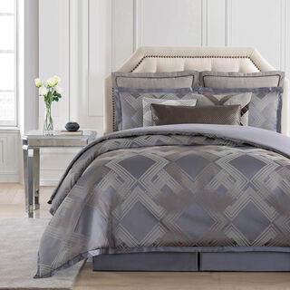 Cottage 3 Pieces Jacquard Comforter King Size Gray