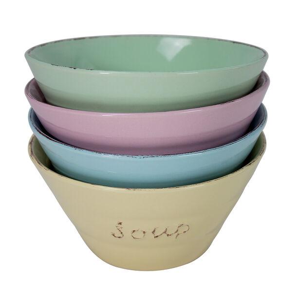 Soup Bowl Set 4Pcs Mix Colors image number 1