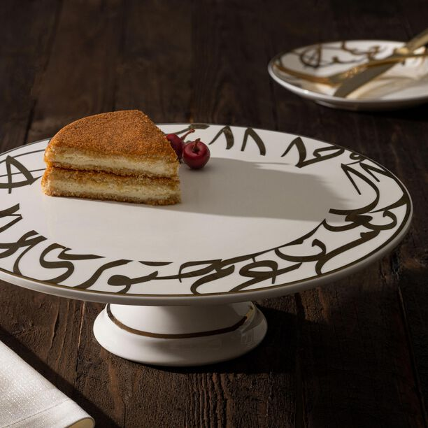 La Mesa Porcelain Cake Stand Kan Ya Makan Gold 30 image number 2
