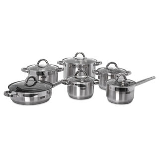 Alberto 12Pcs Stainless Steel Cookware Set