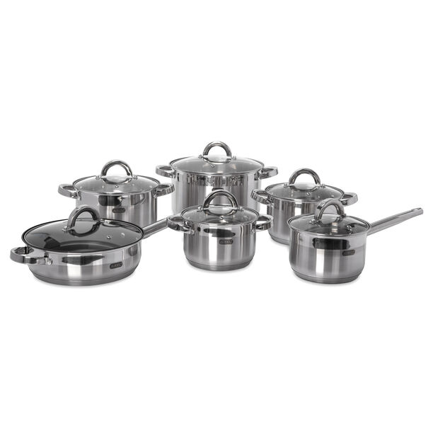 Alberto 12Pcs Stainless Steel Cookware Set image number 0