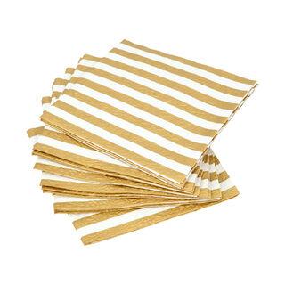 مناديل ورقية مربعة لون ذهبي وابيض من امبيانتي