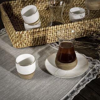 طقم شاي و  قهوة عربي 18 قطعة