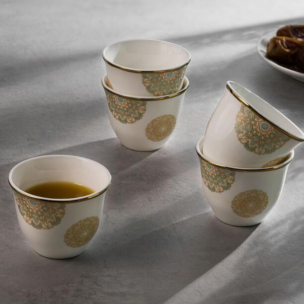 La Mesa Fairouz Gold Coffee Cups Set 12 Pieces image number 3
