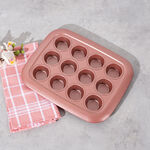 Betty Crocker Non Stick 12 Cup Muffin Pan, Rose Color L:29Xw:23Xh:3Cm image number 1