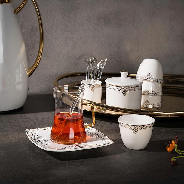 طقم كاسات قهوة مع شاي 28 قطعة image number 0