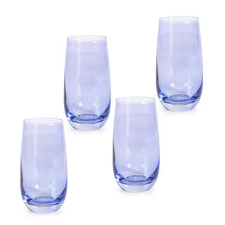 Rio Blue 4 Pieces Set High Ball Glass