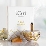 Majetic Marble Oud Holder With I Oud Amber Oud Sticks image number 1