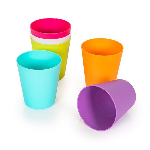 طقم كاسات بلاستيكية متعددة الالوان من البرتو  image number 1