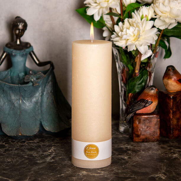 Pillar Candle Sense Rustic Ivory  image number 2
