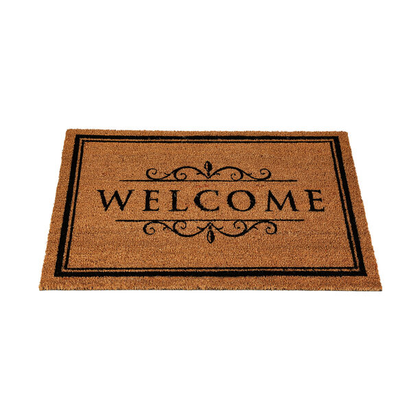 Pvc Backed Coir Mat Natural Painted image number 1
